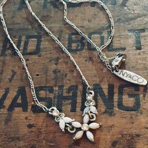New York & Co. silver delicate vintage necklace
